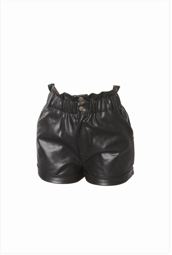 "The ""Foxy"" Faux Leather Shorts"