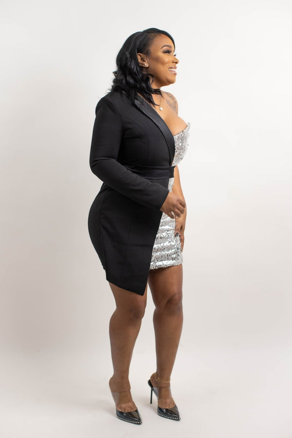"THE ""SILVER KNIGHTS"" BLAZER DRESS"