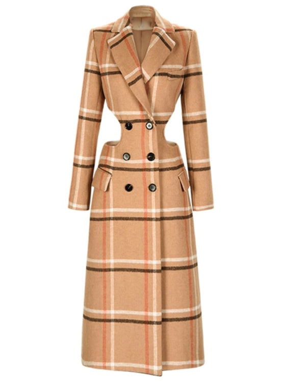 "The ""DONT TAKE SIDES"" PLAID TRENCH"