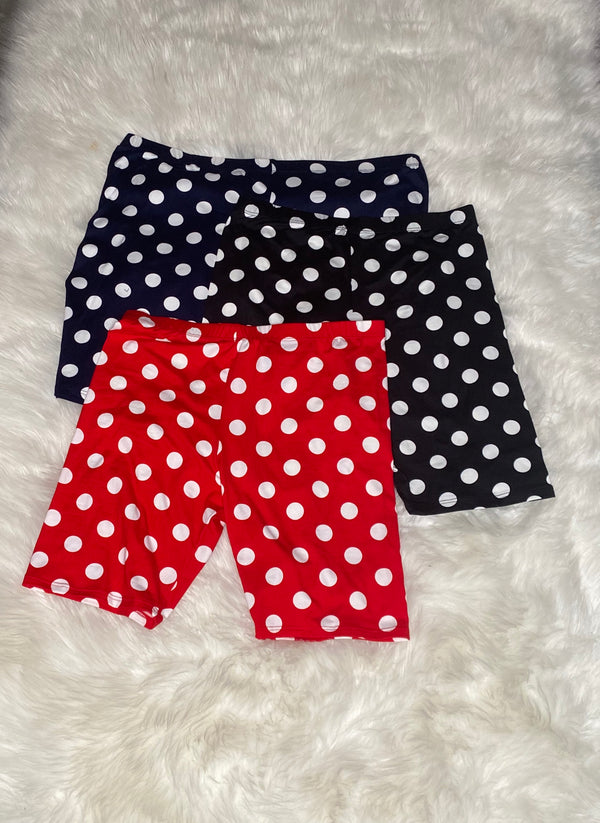 Polka Dot Biker Shorts