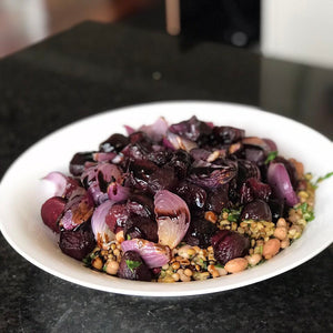 Roasted Beetroot, Farro & Bean Salad