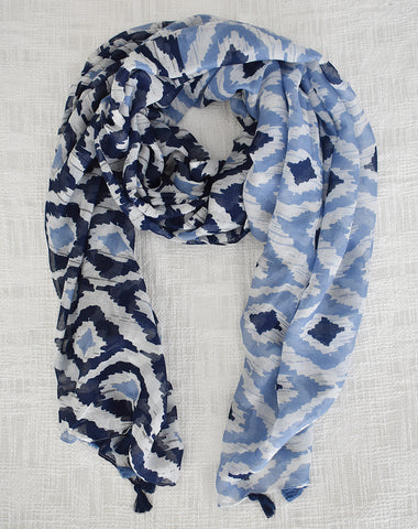 Hamptons Blue Lightweight Scarf