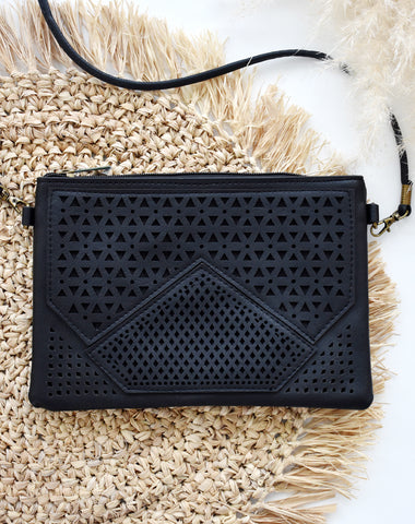 Black Betty Classic Cross Body Bag in Black