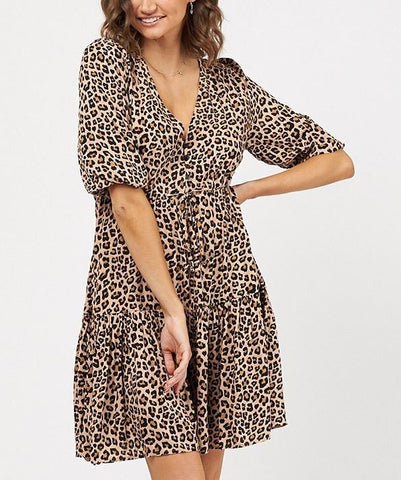 Layla Leopard Short Dress