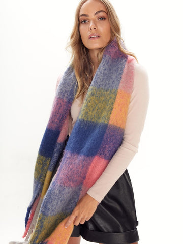 Over The Rainbow Fluffy Scarf