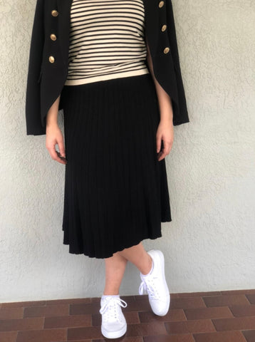 Julia Black Knit Skirt