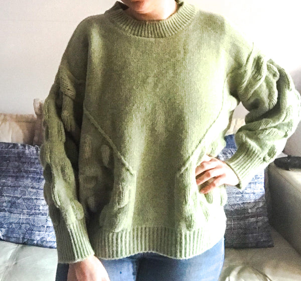 Sage Bubble Knit