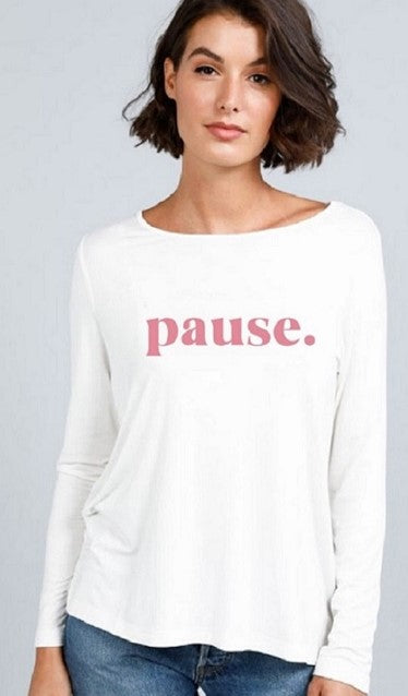 Pause Long Sleeve Tee