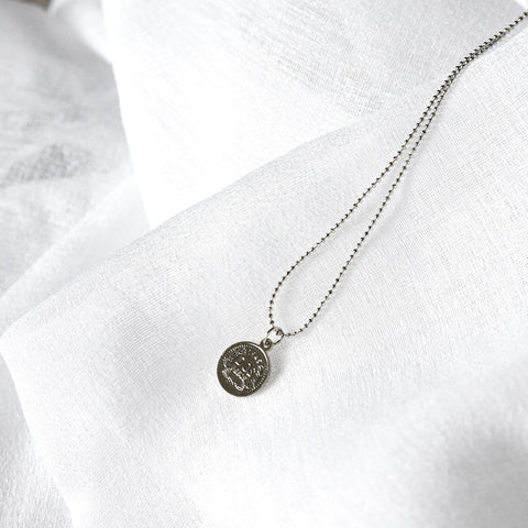 Penny Coin Necklace - Silver