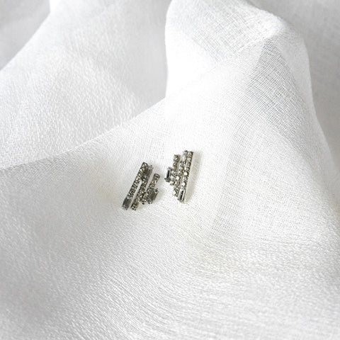 Saskia Stud Earrings - Silver