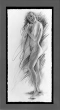 Load image into Gallery viewer, Afternoon Spa is a framed original drawing by Pat Cross.