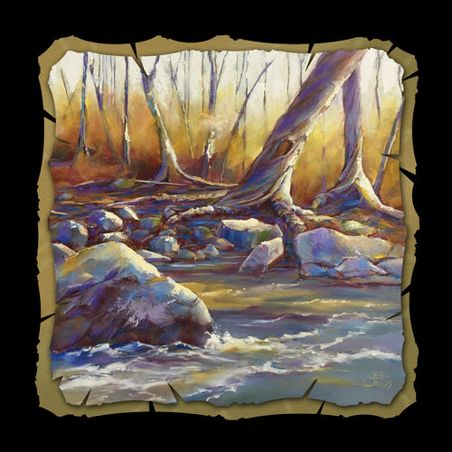 Autumn on the Riverbank 10x10 print