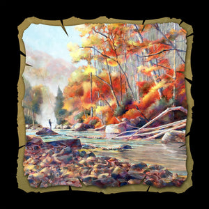 Autumn Trout Fishing 10x10 print