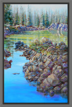 Load image into Gallery viewer, Emerald Path 36x24 framed oil painting by Pat Cross