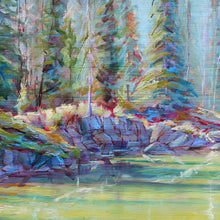 Load image into Gallery viewer, Emerald Path oil painting detail by Pat Cross
