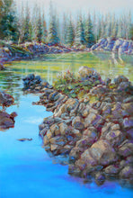 Load image into Gallery viewer, Emerald Path 36x24 painting by Pat Cross