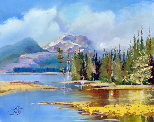 Evening On South Sister oil painting by Pat Cross