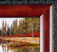 Load image into Gallery viewer, Detail of framed Fall River original oil painting by Pat Cross