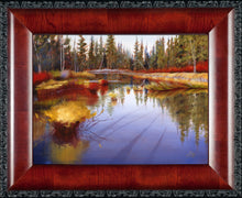 Load image into Gallery viewer, Framed Fall River original oil painting by Pat Cross