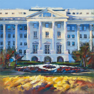 Greenbrier Hotel Glory oil painting by Pat Cross