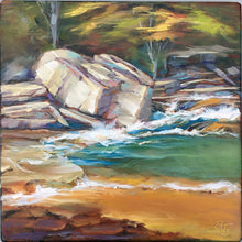 Load image into Gallery viewer, It Runs Deep 6x6 oil painting by Pat Cross