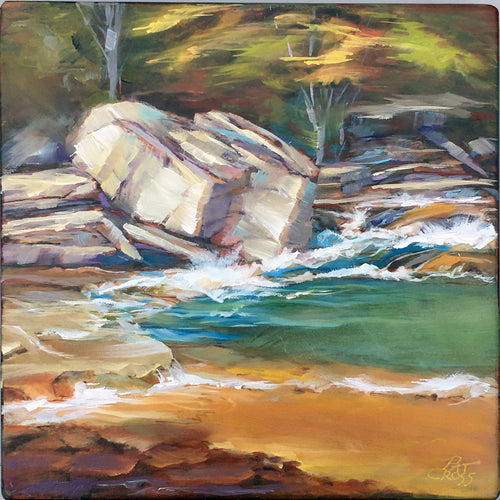 It Runs Deep 6x6 oil painting by Pat Cross
