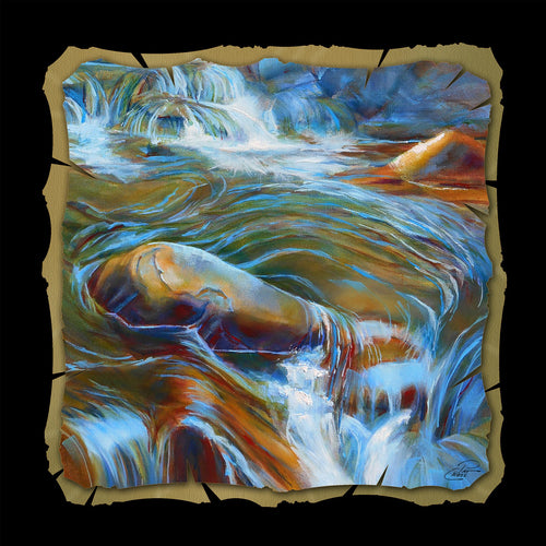 Meandering Waters 10x10 print