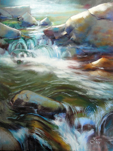 Moody Waters 12x9 oil painting by Pat Cross