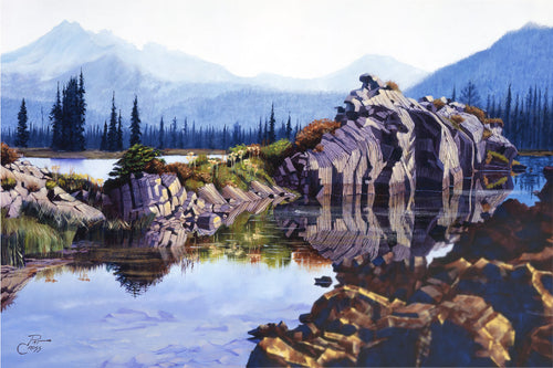Morning Reflections on Sparks Lake original oil painting by Pat Cross