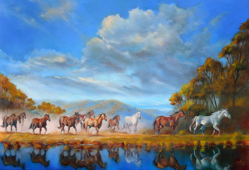 On to Greener Pastures oil painting by Pat Cross