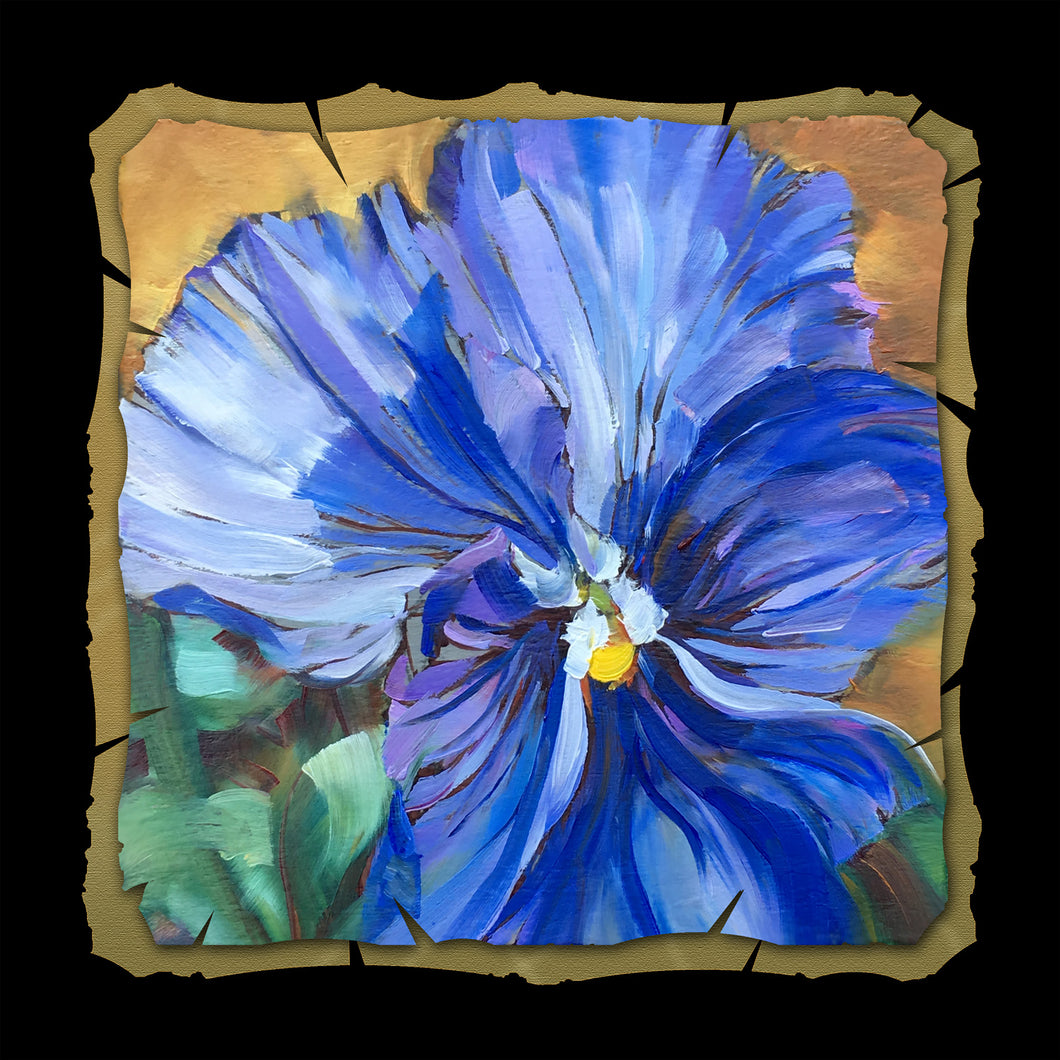 Personality Pansy 10x10 Print