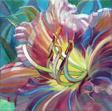 Load image into Gallery viewer, Russian Rhapsody 6x6 floral oil painting by Pat Cross