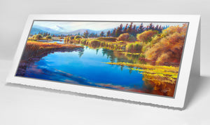 Tee Time Sunriver Meadows 4x9 handmade notecard