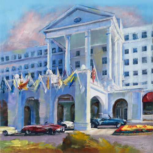 The Greenbrier Flags oil painting by Pat Cross