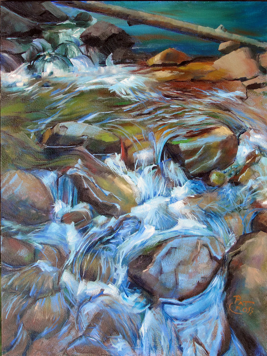 The River Dance original oil painting by Pat Cross
