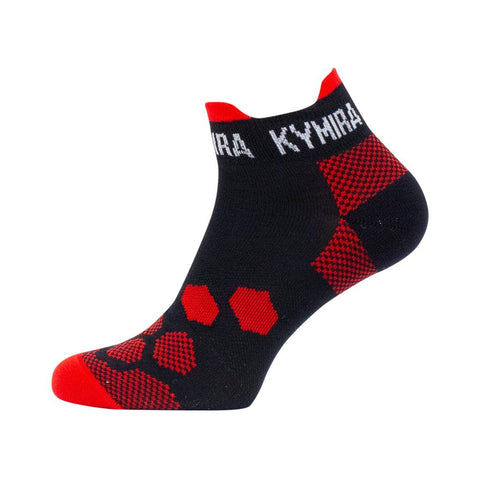 Infrared Ankle Golf Socks - iGoSport x Kymira. Red and Black.