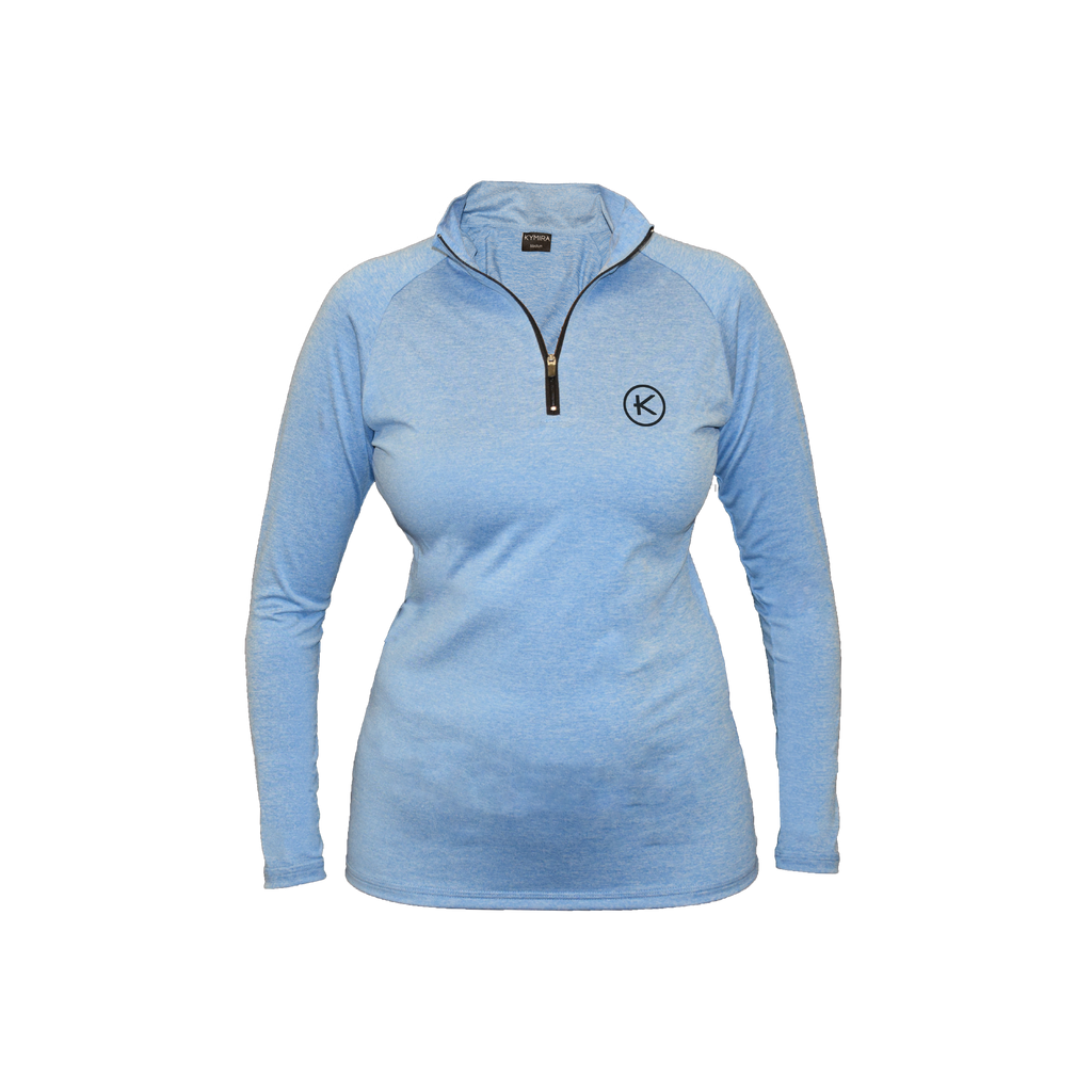 Kymira Golf Women's 1/4 Zip Sky Blue