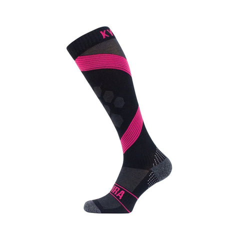 Infrared Compression Golf Socks - iGoSport x Kymira. Pink and Black.