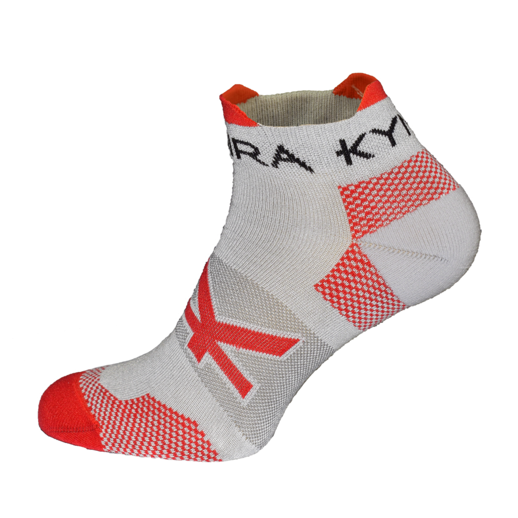 Kymira Infrared Ankle Socks Grey & Red
