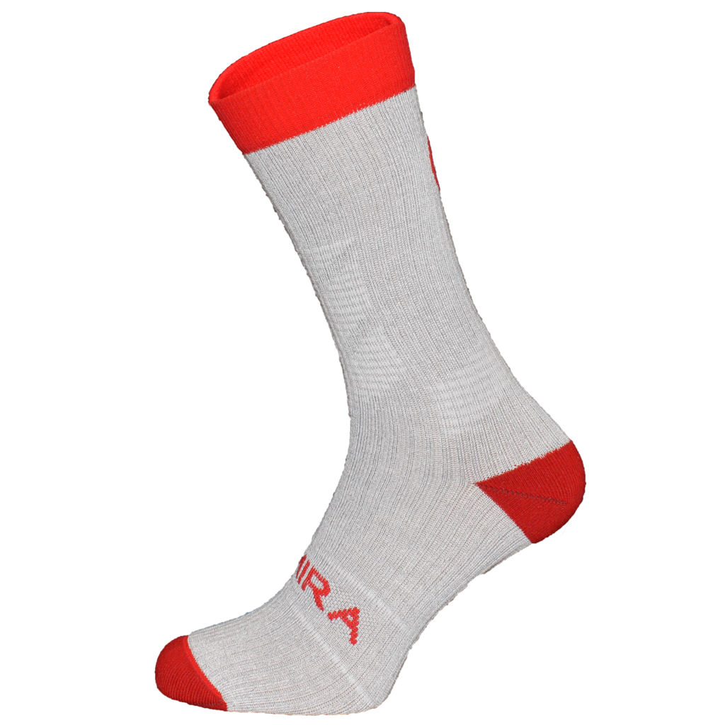 Kymira Infrared Crew Socks Grey & Red