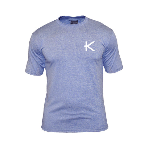 Kymira Men's Crew Marle T-Shirt Royal Blue