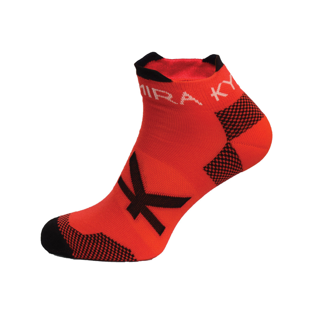 Kymira Infrared Ankle Socks Red & Black