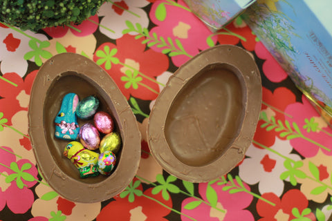 Large Semi Solid thick Shelled Chocolate Egg filled with Chocolate pieces