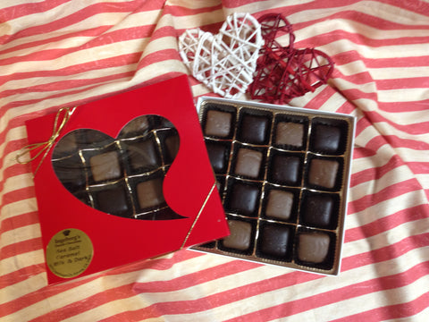 Valentine Red Box-Sea Salt Caramels