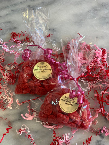 Valentine's Red Raspberry Heart Gummies