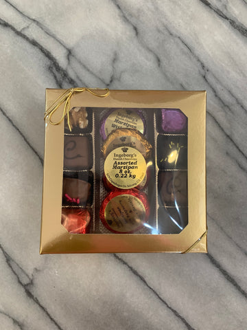 8 oz Assorted Marzipan & Chocolate with Liqueur