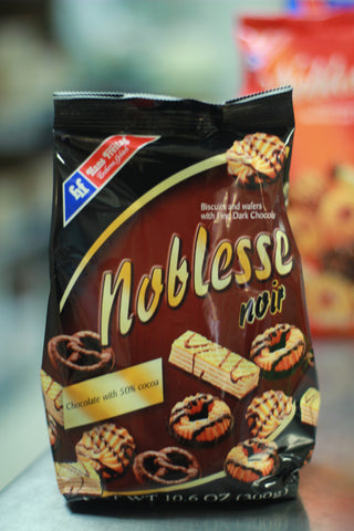 NOBLESSE NOIR BISCUITS & WAFERS 10.6 OZ.