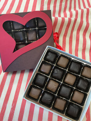 Butterscotch Sea Salt Caramels-Valentine Box
