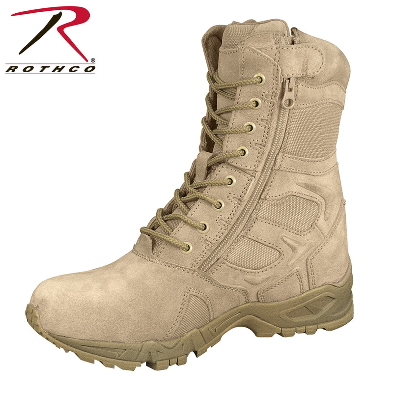 "Rothco Forced Entry 8"" Deployment Boots With Side Zipper"