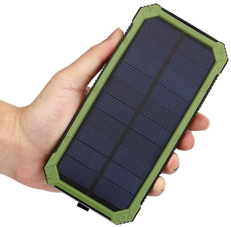 Black Hawk Waterproof Shockproof Solar Dual-USB 30,000mAH Power Bank and LED Light
